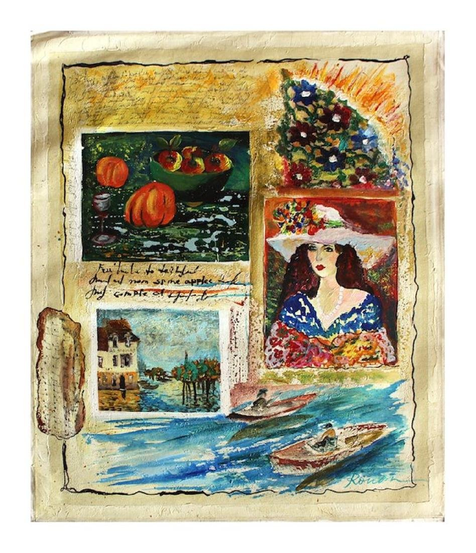 "Olga Roubin Original Acrylic on Canvas | 23.5\"" x"