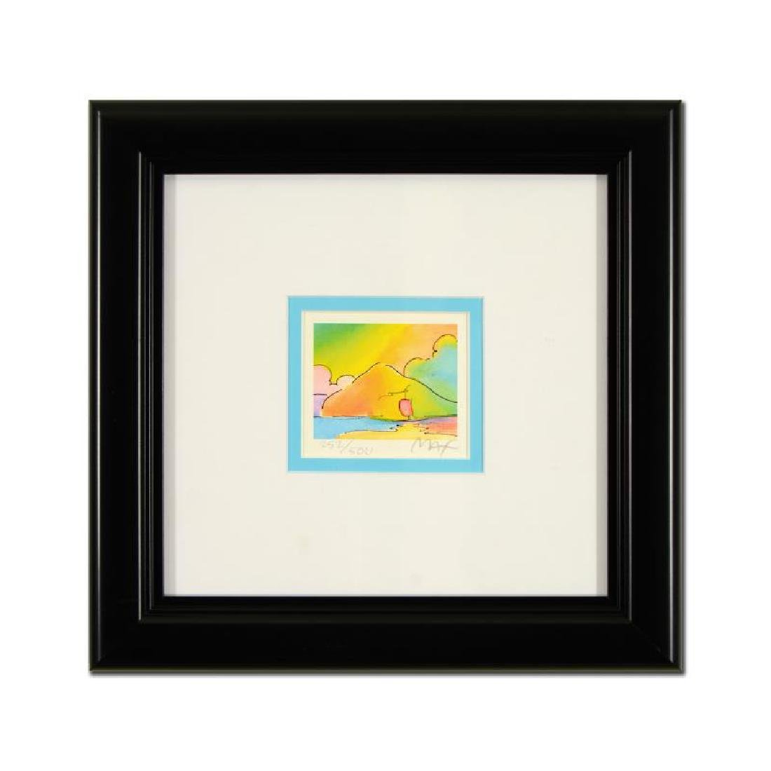 "Peter Max ""Sailboat And Mountain"" Framed Limited"