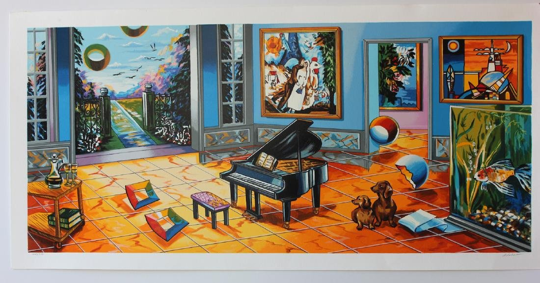 Alexander Astahov Limited Edition Serigraph BLACK PIANO