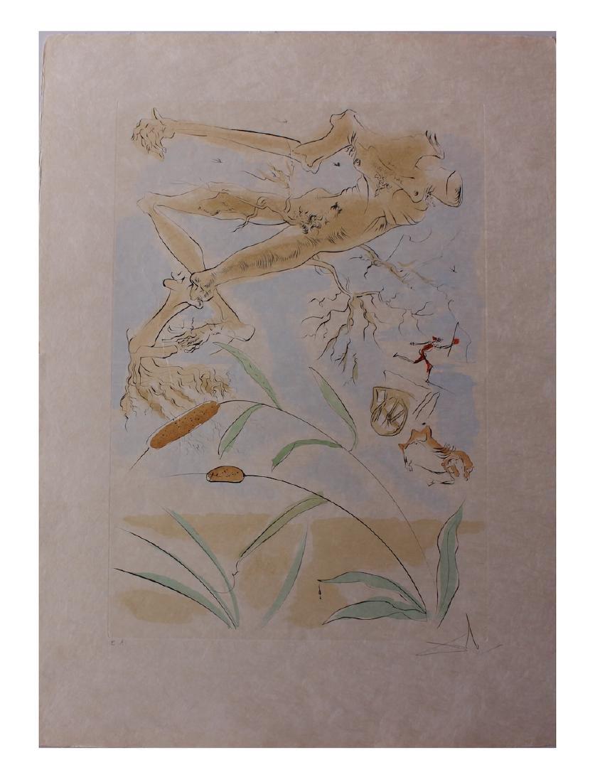 "Salvador Dali ""La Chene et le Roseau"" Original"