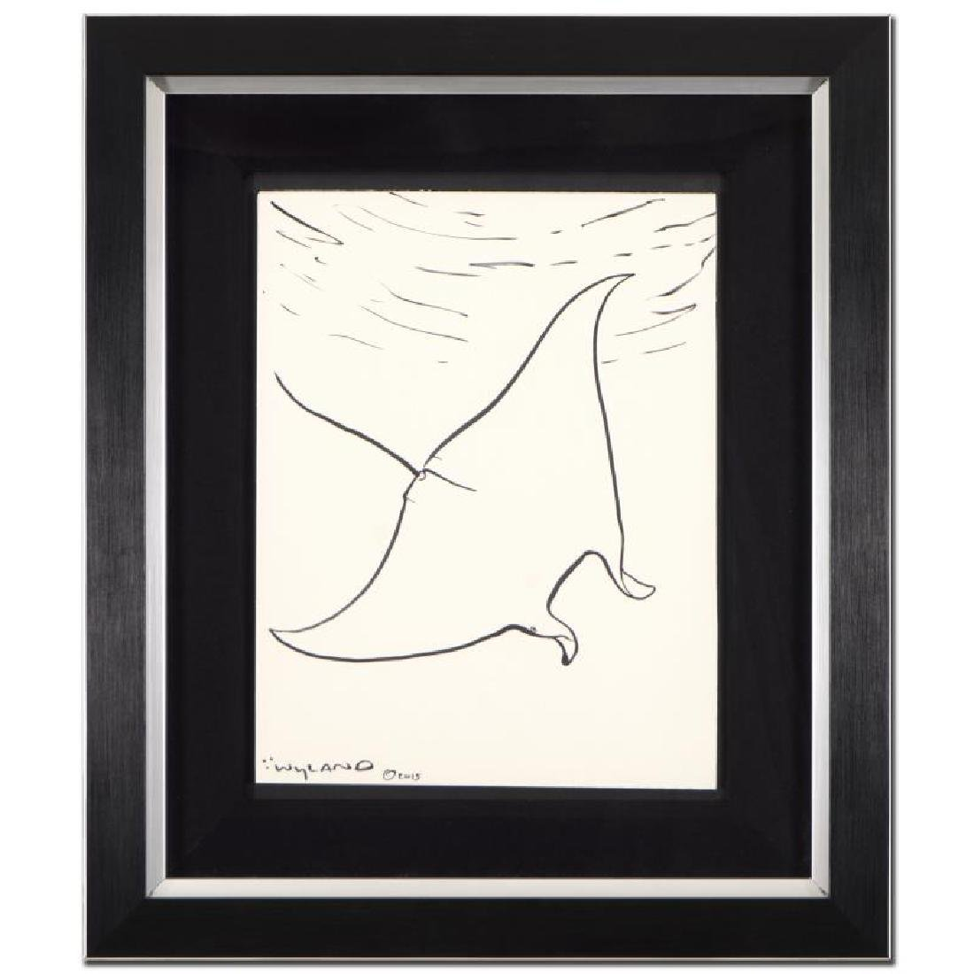"Wyland - ""Manta Ray"" Framed Original Sketch"