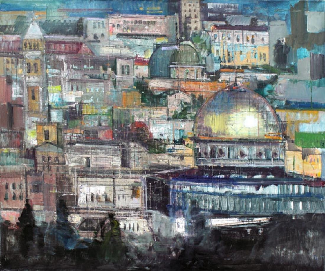 """Alex Zwarenstein Giclee on Canvas """"Jerusalem at Dusk"""""""