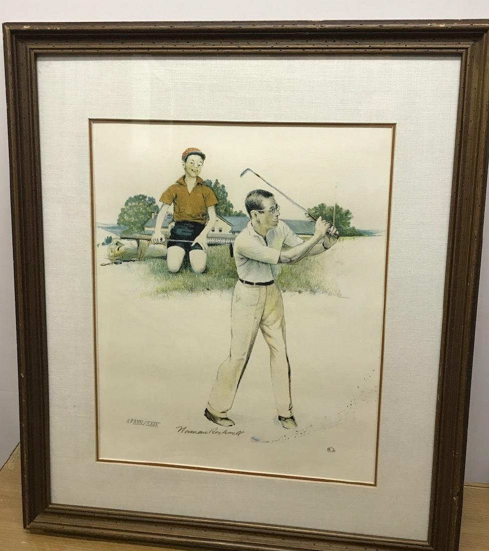 Norman Rockwell Framed Signed and Numbered Lithograph