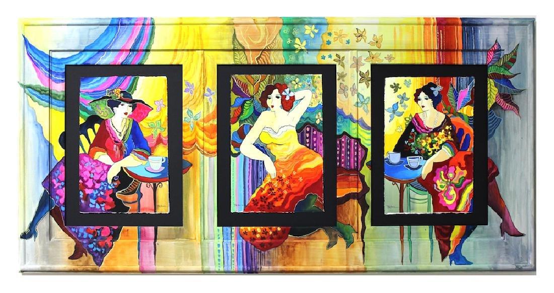 Patricia Govezensky Triplet Orig. Watercolor Painted