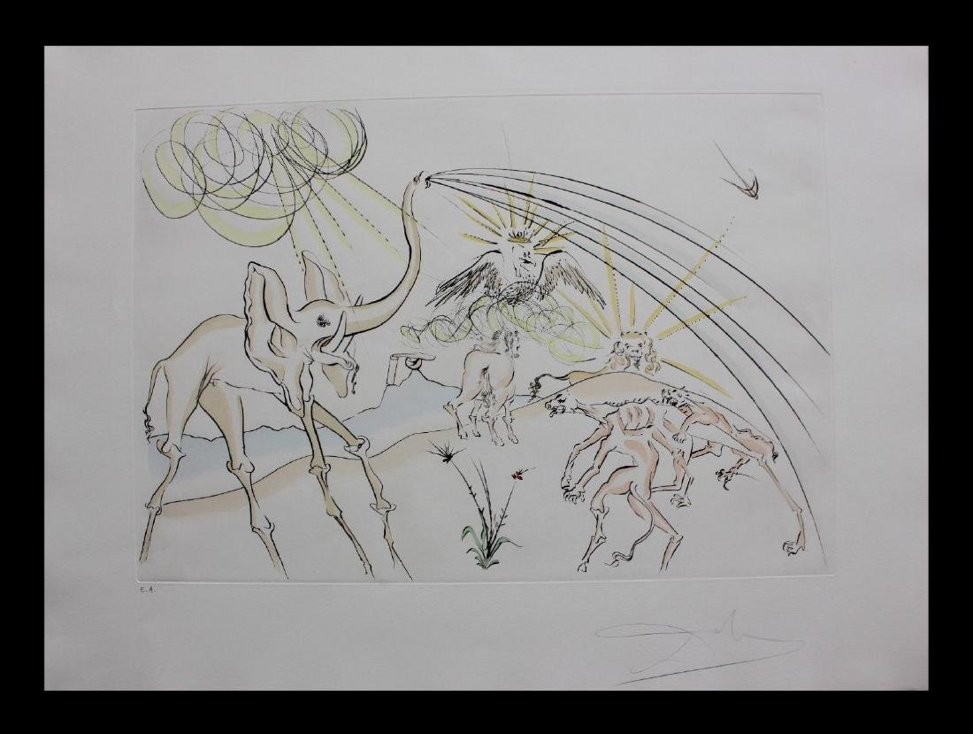 Salvador Dali The Animals ill with the Plague ORIG LE