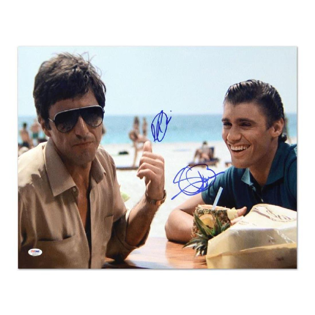 """Scarface"" Photo Autographed by Al Pacino & Steven"