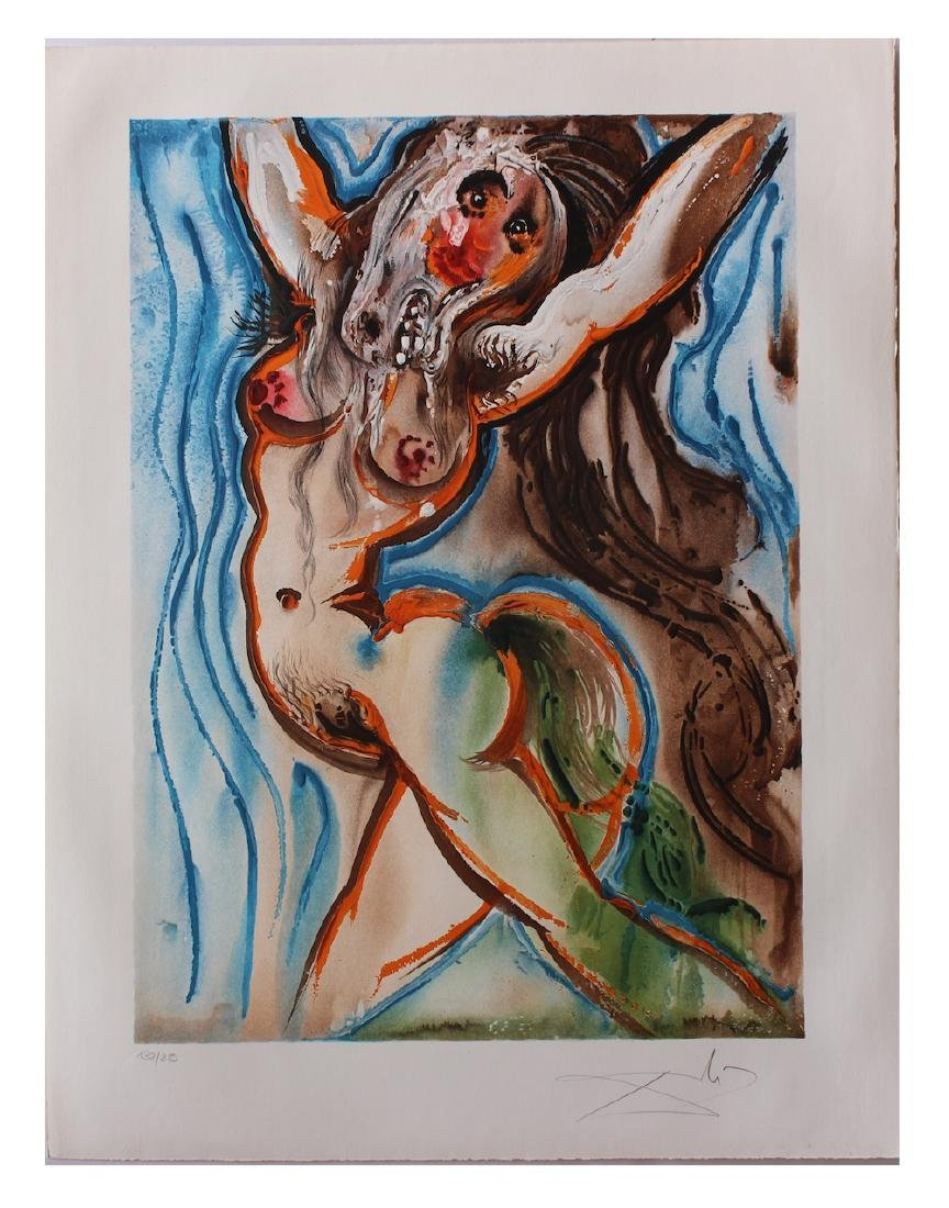 "Salvador Dali Original Lithograph ""The Woman-Horse"""