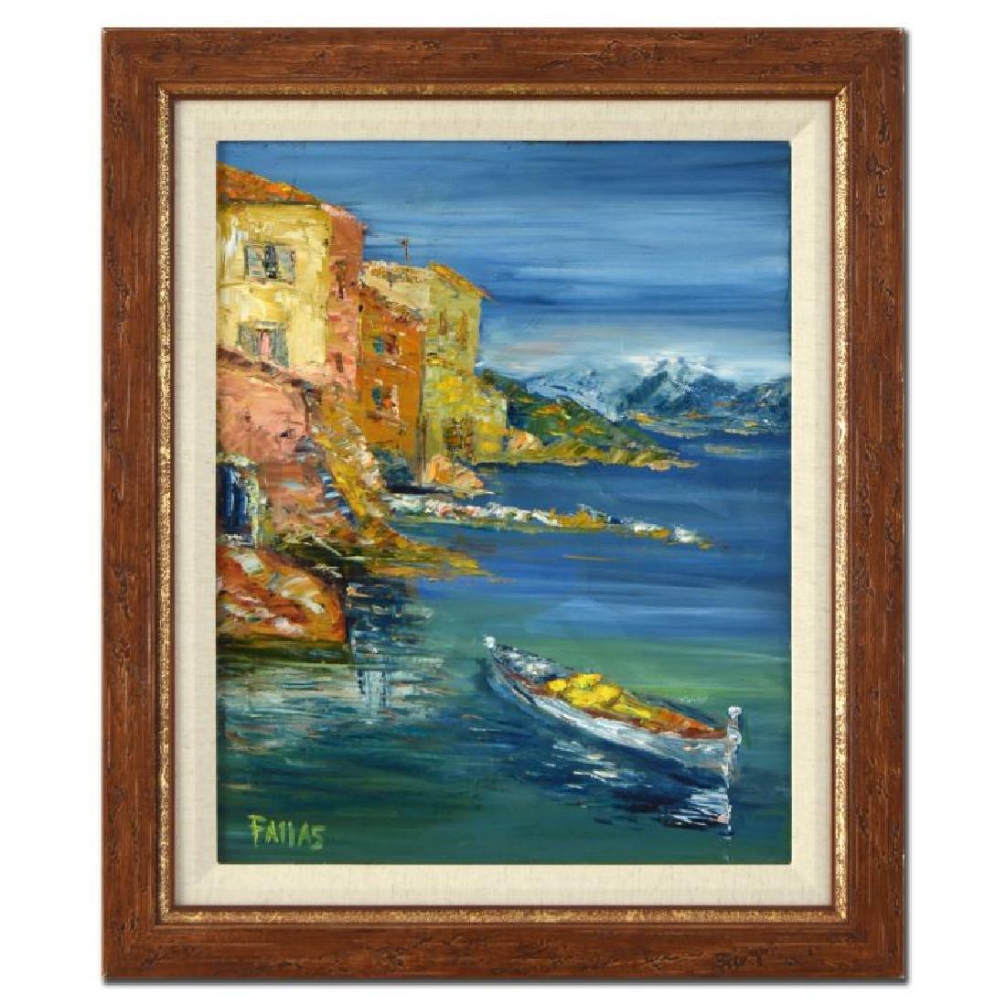 """Elliot Fallas - """"Monterosso Villa"""" Framed Original Oil"""