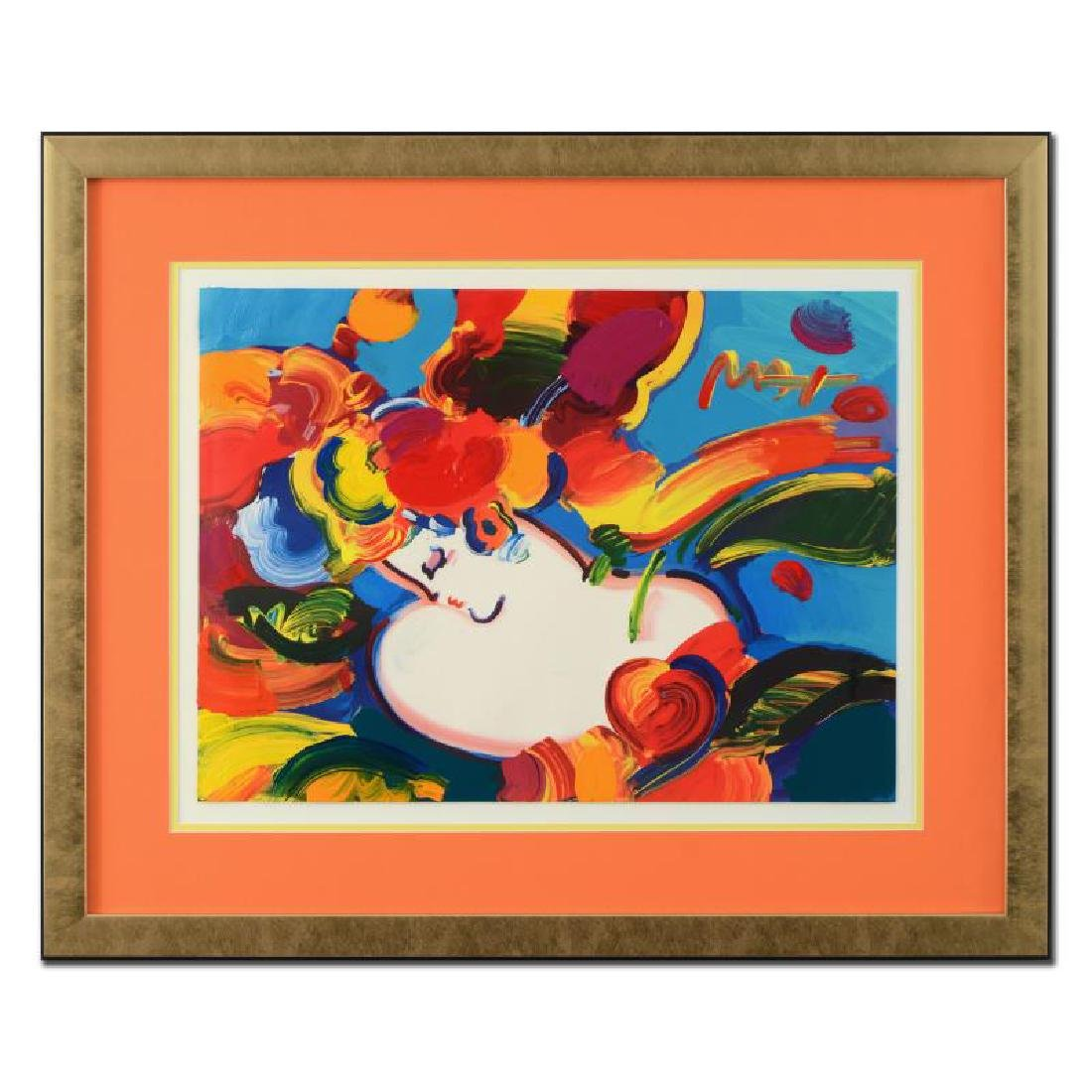 """Peter Max - """"Woman in Love"""" Framed One-Of-A-Kind"""