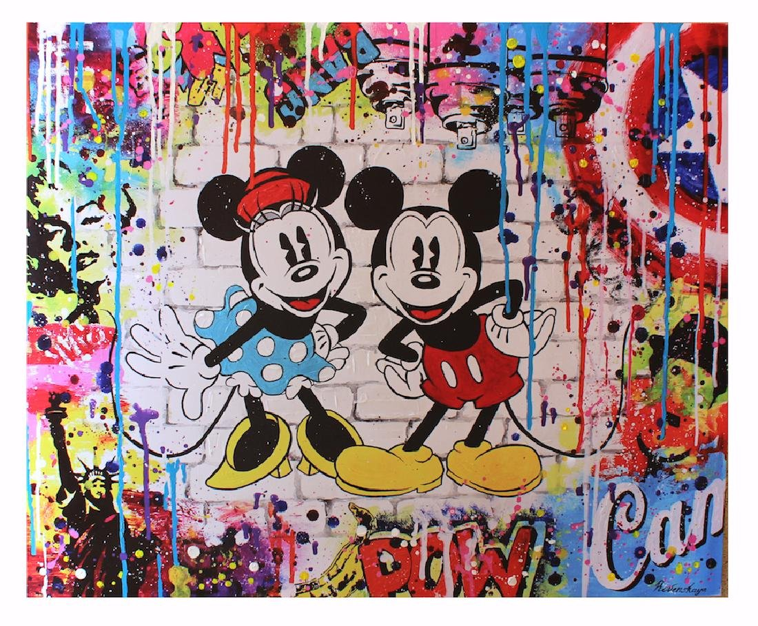 Nastya Rovenskaya- Mickey and Minnie | Hand Embelished
