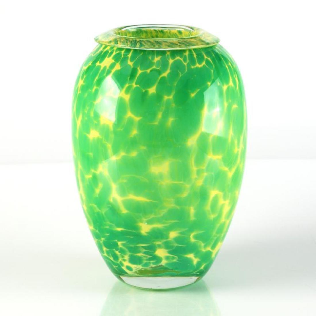 Original Hand-Blown Glass Vase Sculpture by Jean Claude