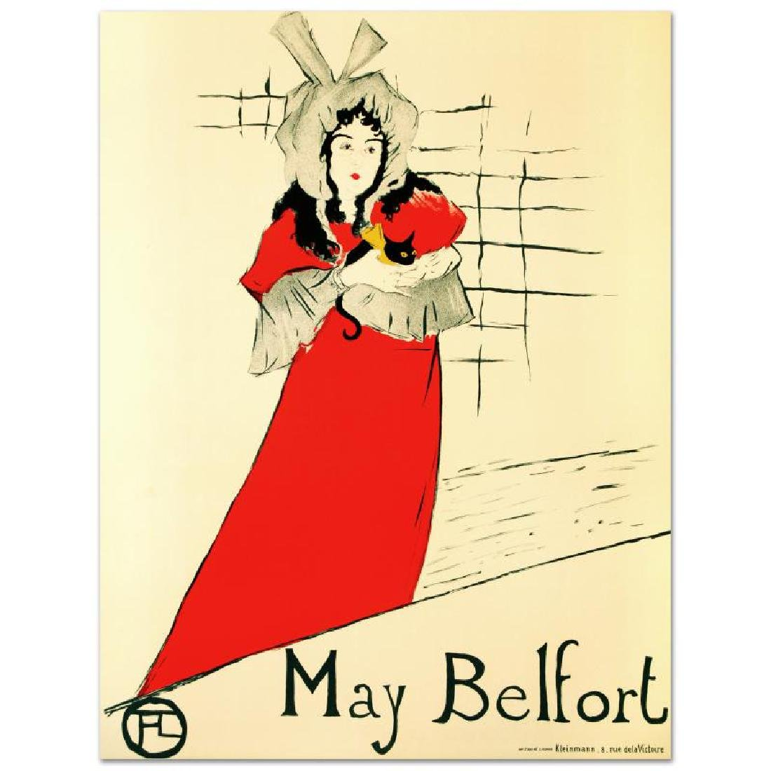 """""""May Belfort"""" Hand Pulled Lithograph by the RE Society,"""