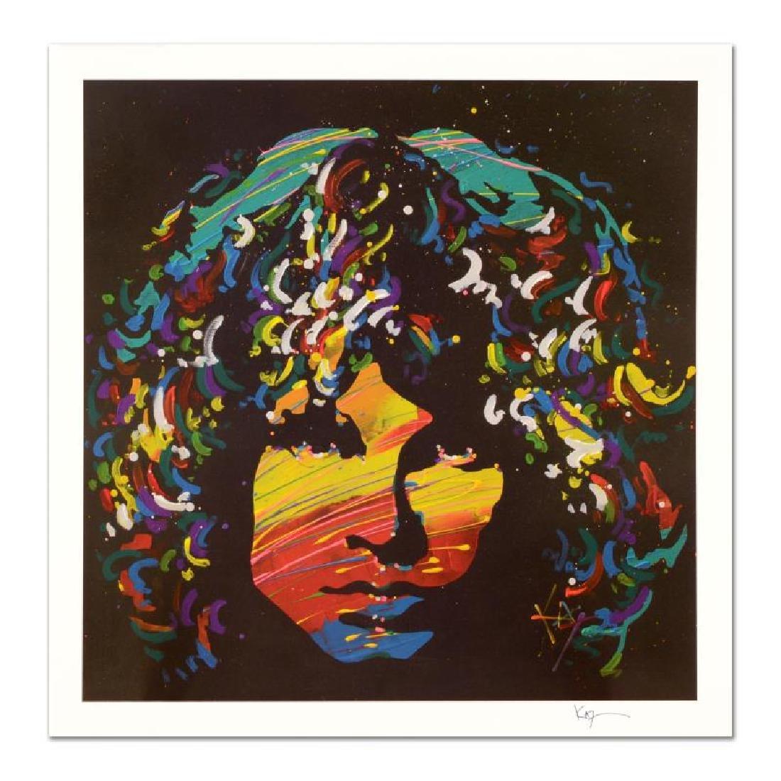 """KAT - """"Jim Morrison"""" Limited Edition Lithograph,"""
