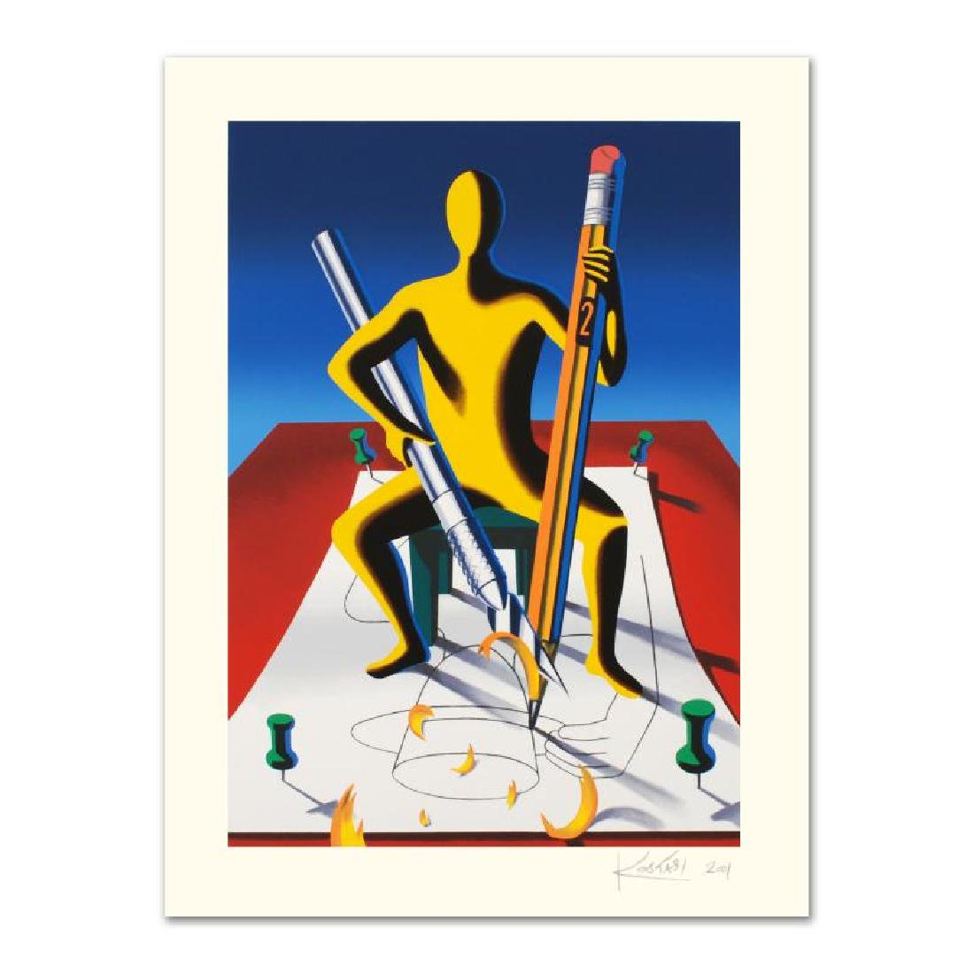 "Mark Kostabi - ""Careful With That Ax, Eugene"" Limited"