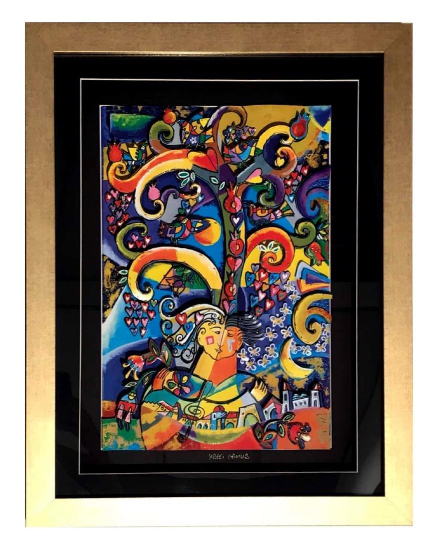 Israeli Artist Ketti Camus Framed Decoupage 70x90cm