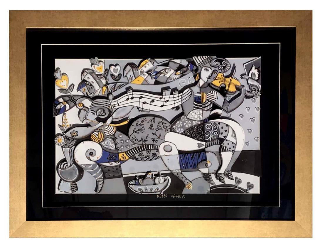 Ketti Camus Framed Decoupage 53x68cm