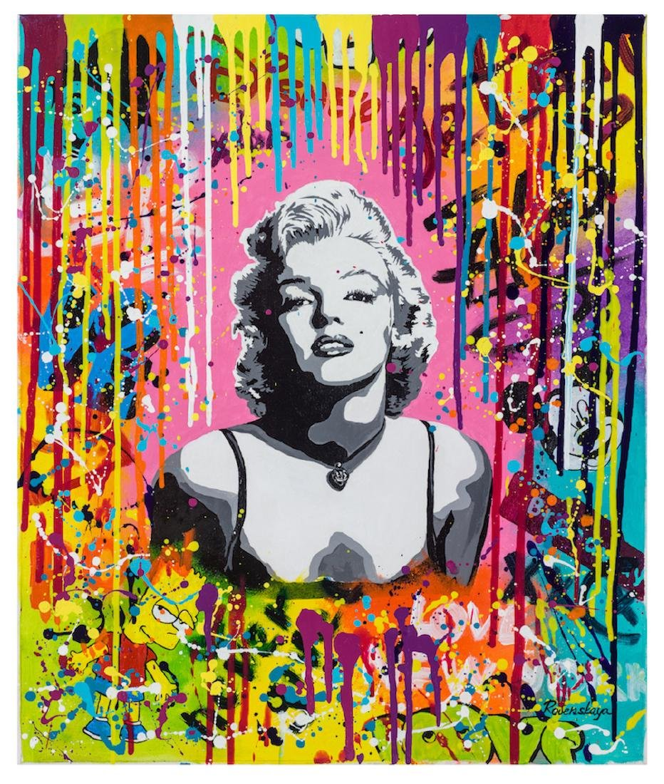 Nastya Rovenskaya Original Oil on Canvas Marilyn Monroe