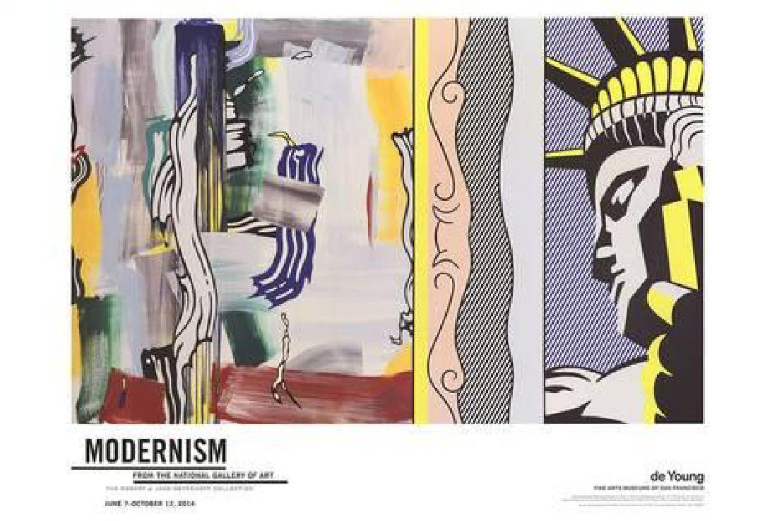 "Roy Lichtenstein ""Painting with Statue of Liberty"""