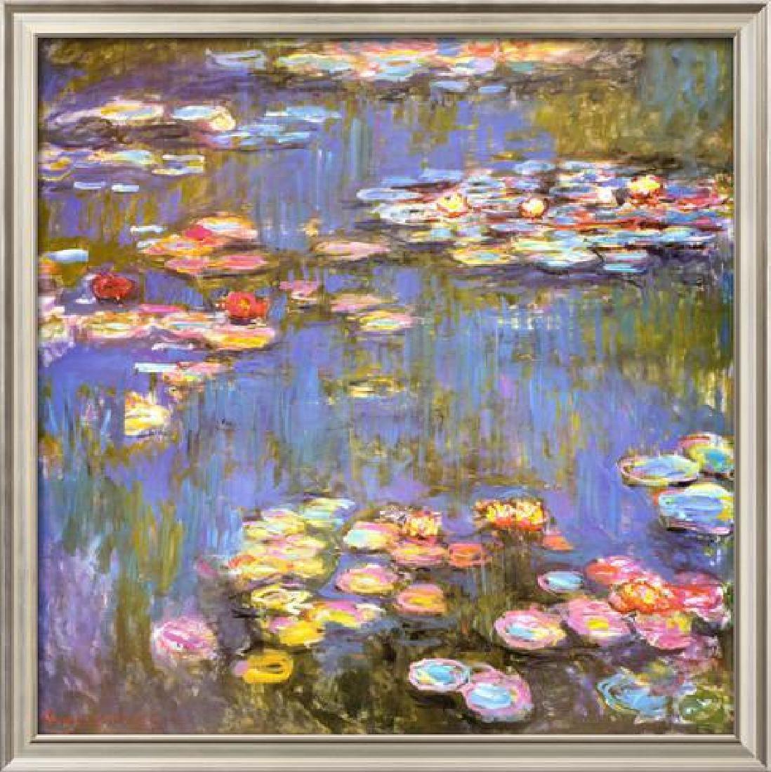 """Claude Monet """"Water Lilies"""" Custom framed Offset"""