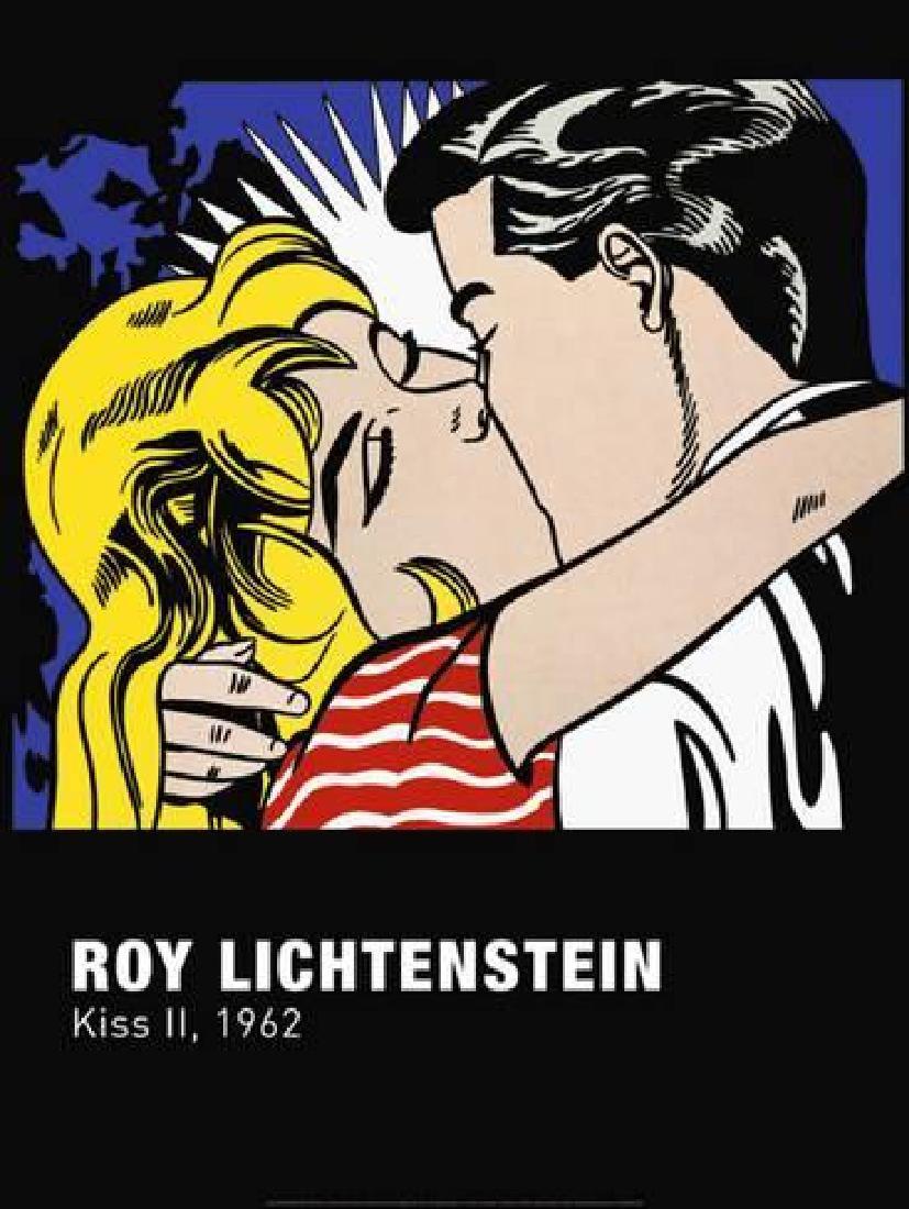 "Roy Lichtenstein ""Kiss II"" Offset Lithograph"
