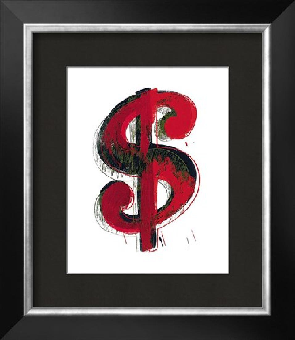 "Andy Warhol ""$$$"" Custom Framed Offset Lithograph"