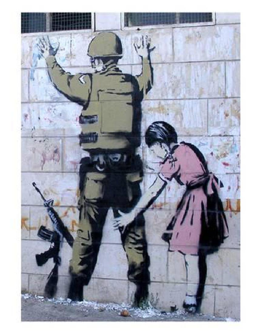"Banksy ""Soldier Searched by a Girl"" Offset Lithograph"