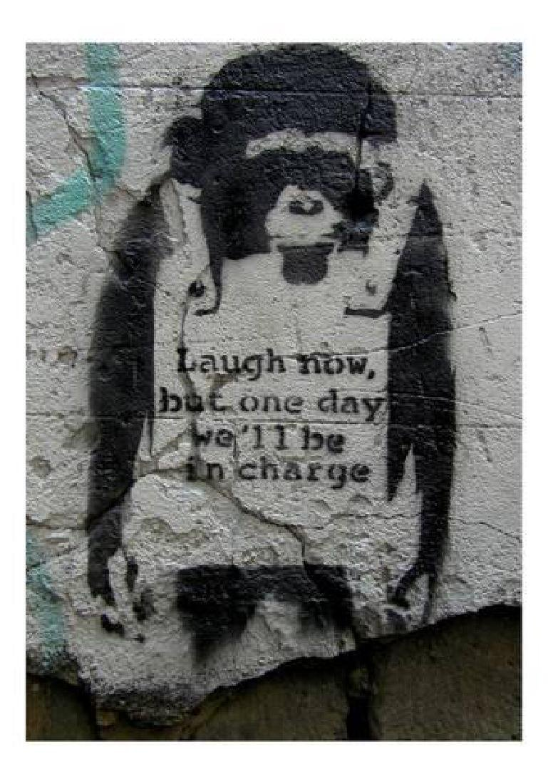 "Banksy ""Laugh Now"" Offset Lithograph"