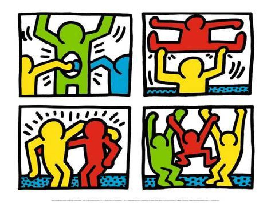 "Keith Haring ""Pop Shop Quad I"" Offset Lithograph 1987"
