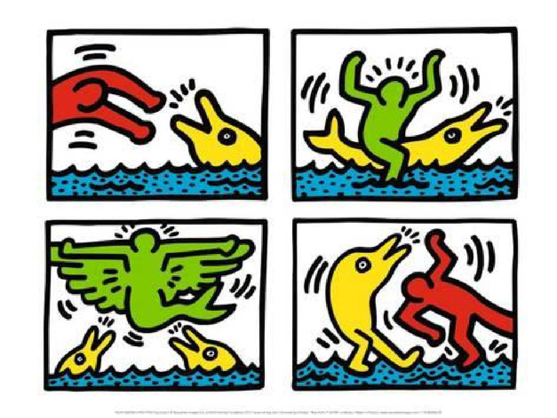 """Keith Haring """"Pop Shop V"""" Offset Lithograph 1987"""