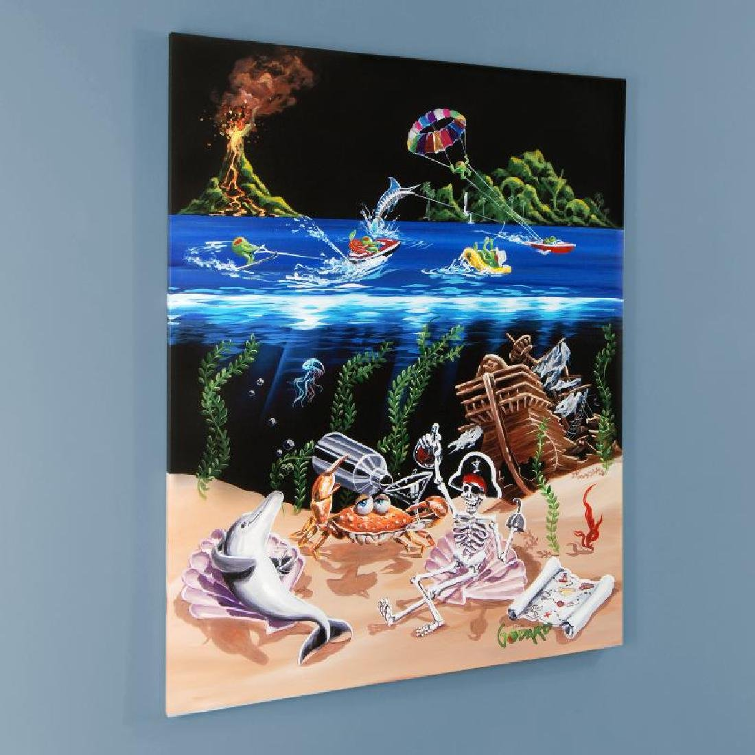 """""""Sand Bar 2"""" LIMITED EDITION Hand-Embellished Giclee on"""