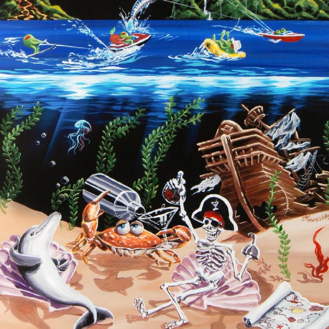 """""""Sand Bar 2"""" LIMITED EDITION Hand-Embellished Giclee on - 2"""