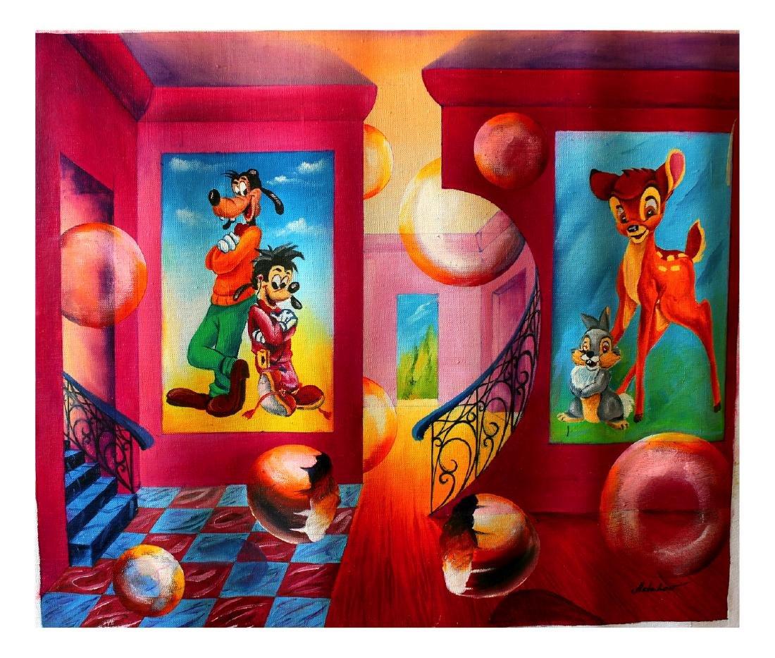 Alexander Astahov- Original Oil on Canvas Disney