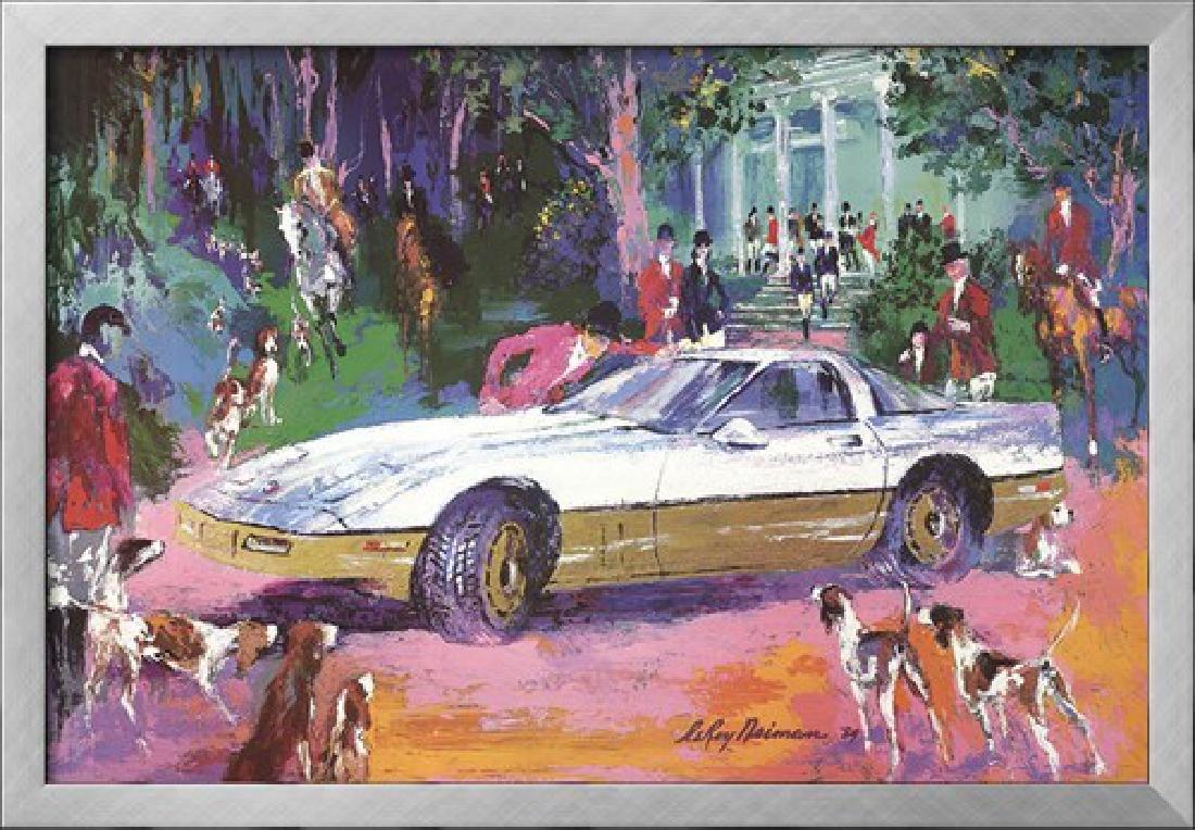 """LeRoy Neiman """"Rendezvous a la Corvette"""" Custom Framed"""