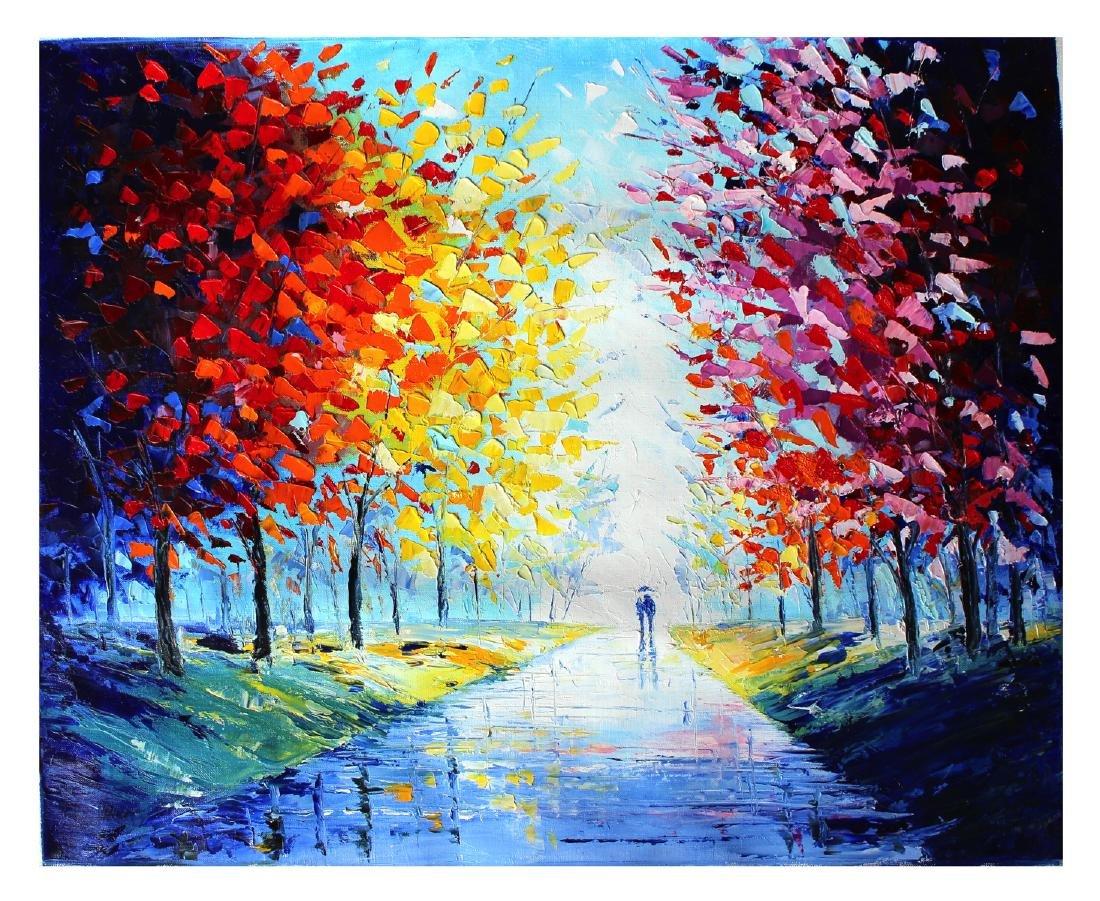 Svyatoslav Shyrochuk Original- Walk Under Umbrella