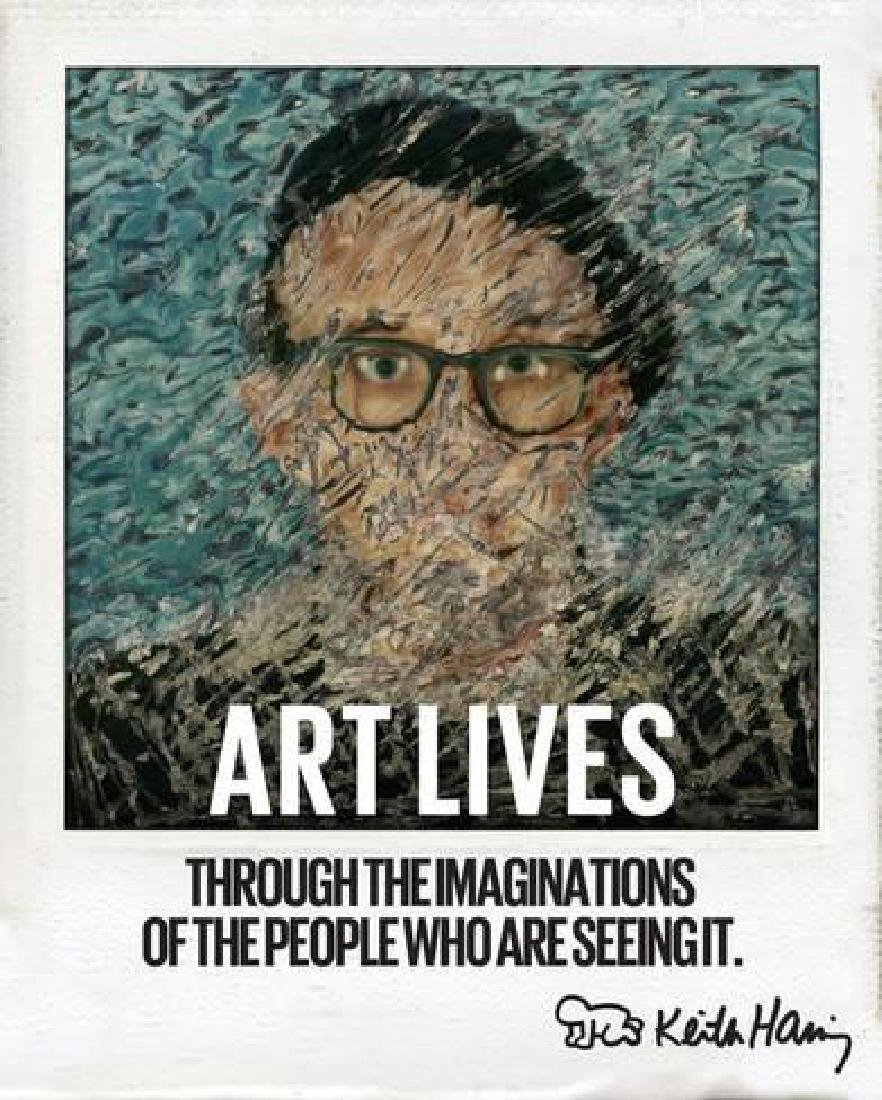 """Keith Haring """"Art Lives"""" Photographic Print"""