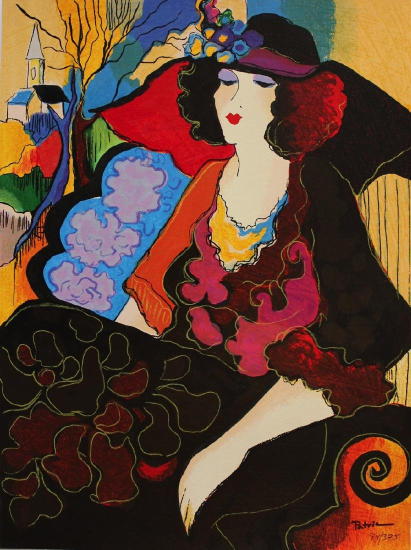 "Patricia Govezensky ""Elizabeth"" Serigraph on Silk"