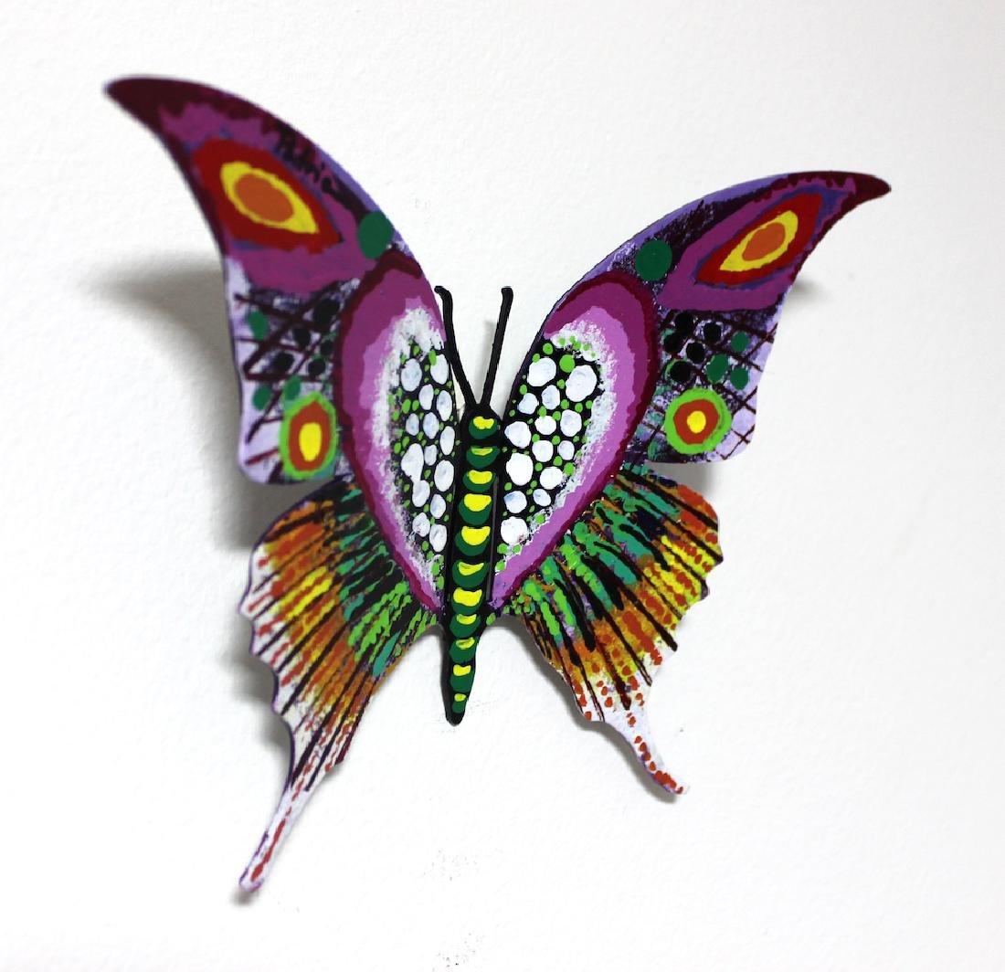 Patricia Govezensky Original Wall Butterfly 3D Metal - 2