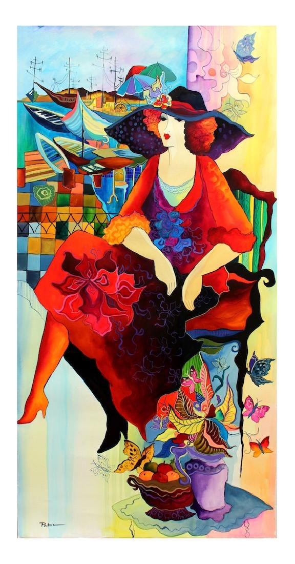 "Patricia Govezensky Original Watercolor ""Butterflies"""