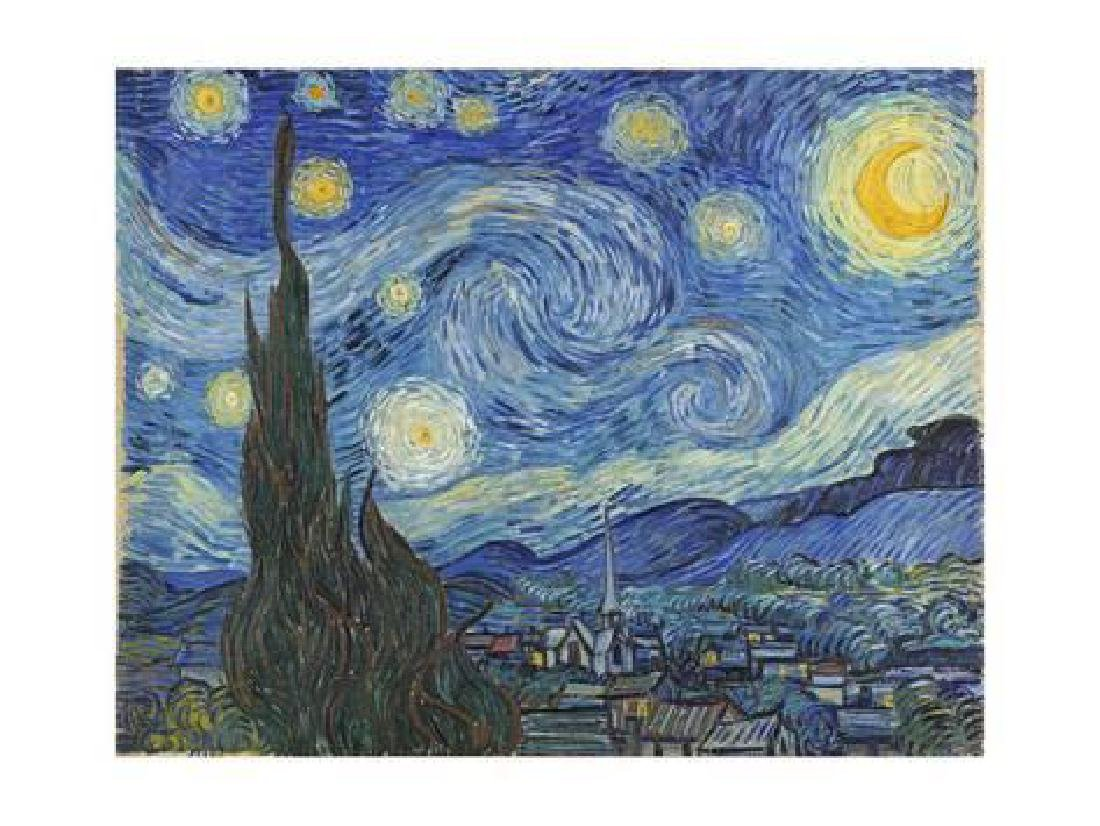 "Vincent van Gogh ""The Starry Night, June 1889"" Offset"