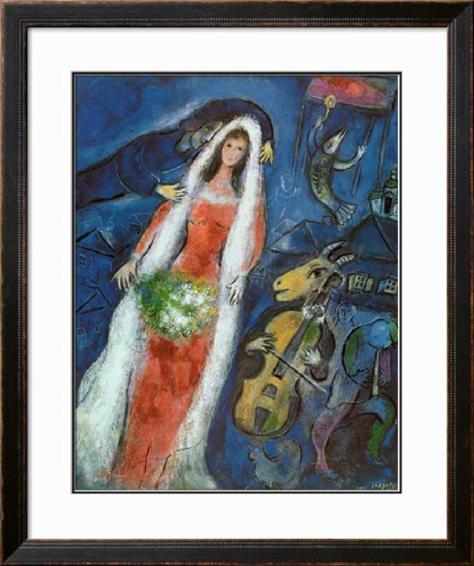 """Marc Chagall """"La Mariee"""" Limited Edition Lithograph"""