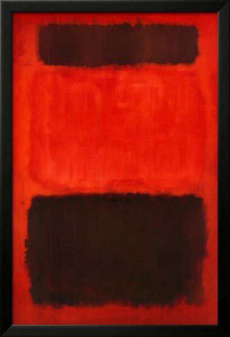"Mark Rothko ""Brown and Black in Reds, 1957"" Custom"