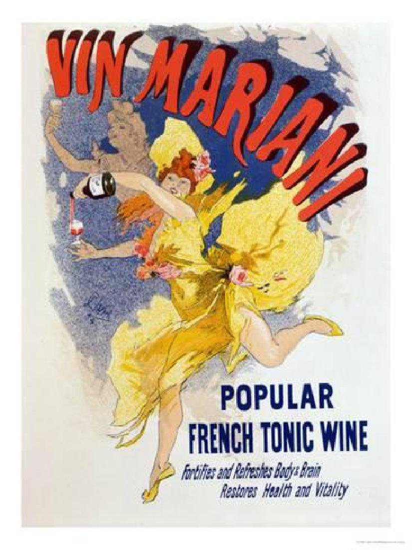 """Jules Chéret- Poster Advertising """"Mariani Wine"""", a"""