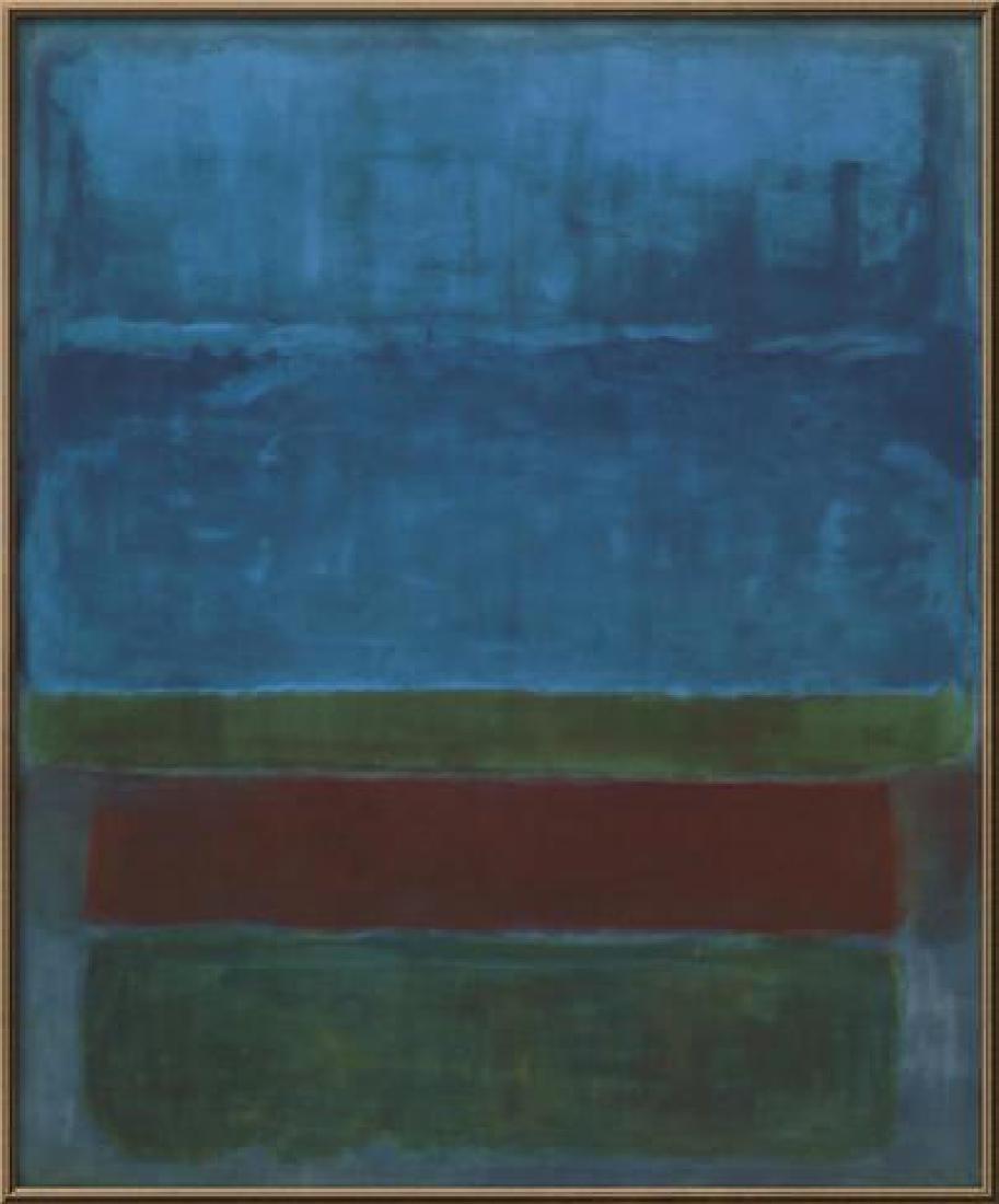 "Mark Rothko ""Untitled (Blue, Green, and Brown )"" Custom"