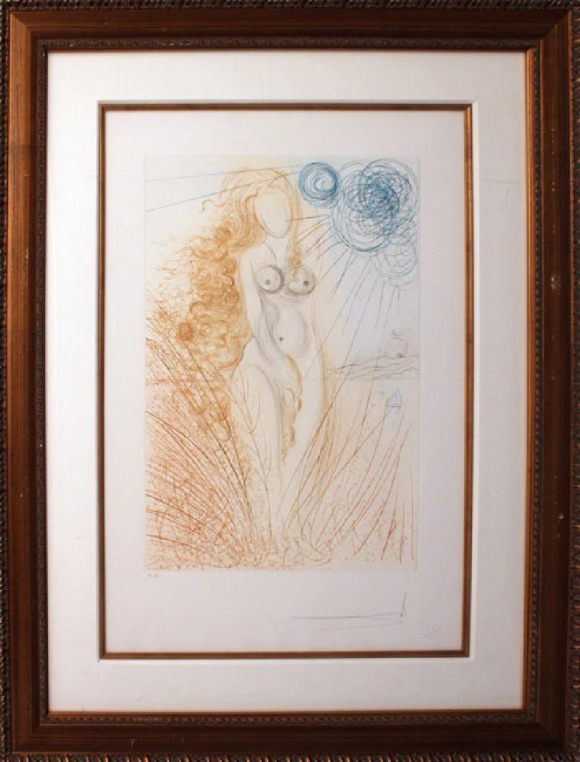 Salvador Dali- Birth of Venus HS/N Framed Original