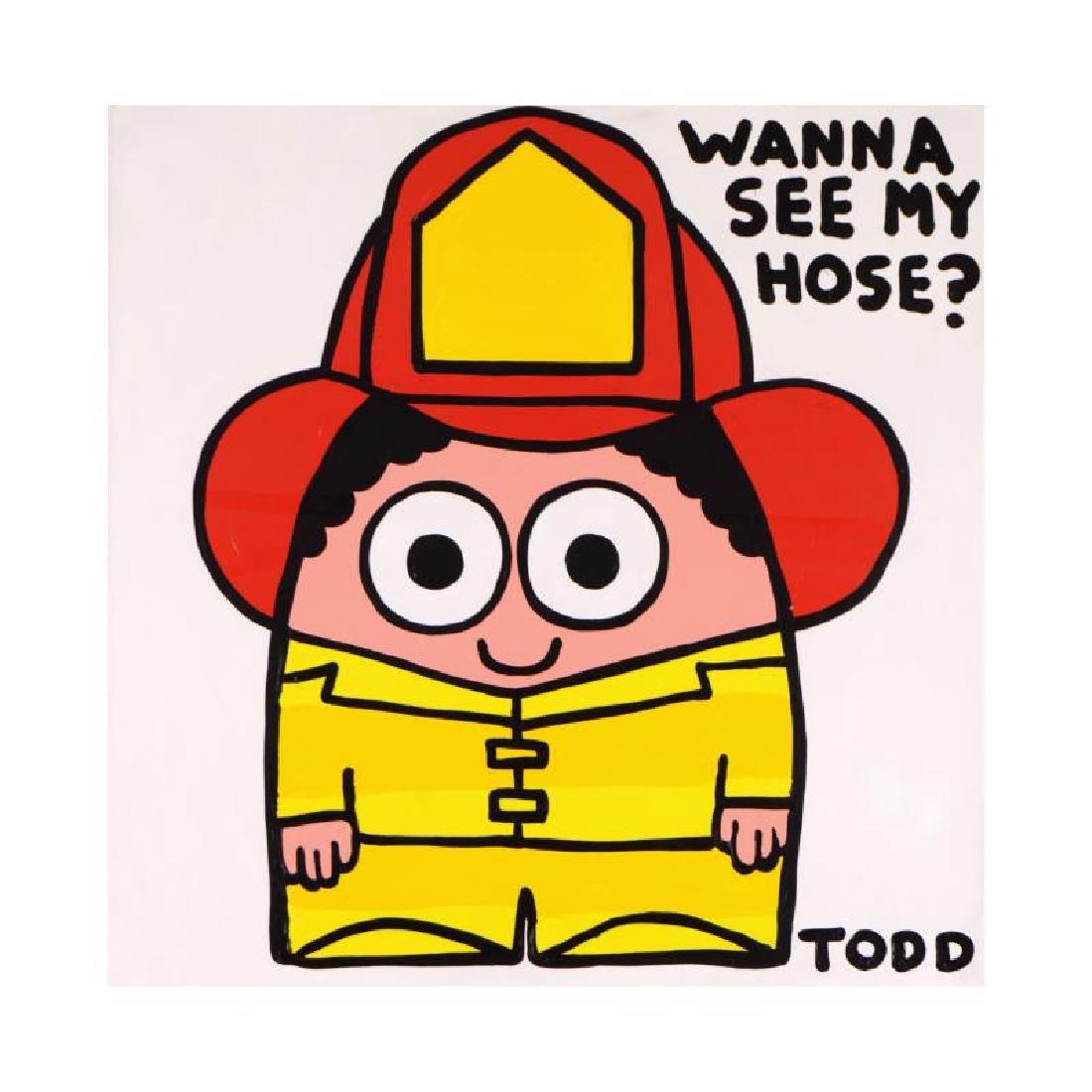 "Todd Goldman - ""Wanna See My Hose?"" Original Acrylic"