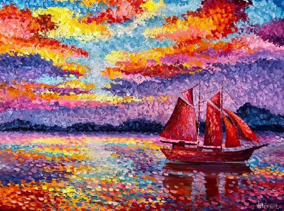 "Alexander Antanenka- ""Sunset Voyage"" Original Acrylic"