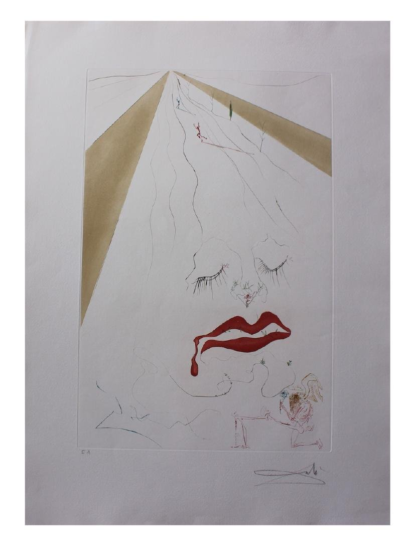 Salvador Dali Original Etchings with color added