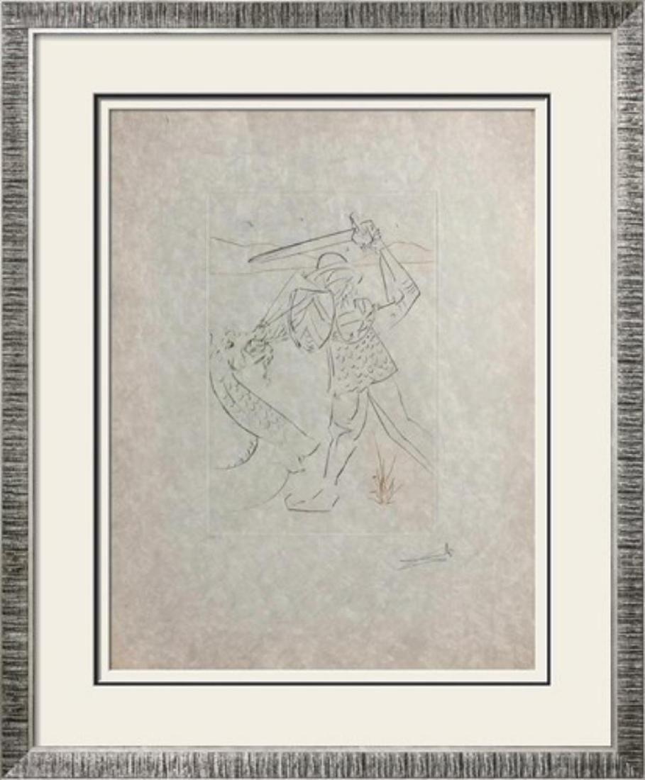 """Salvador Dali """"Quête Du Graal : Tombe De Lancelot"""""""