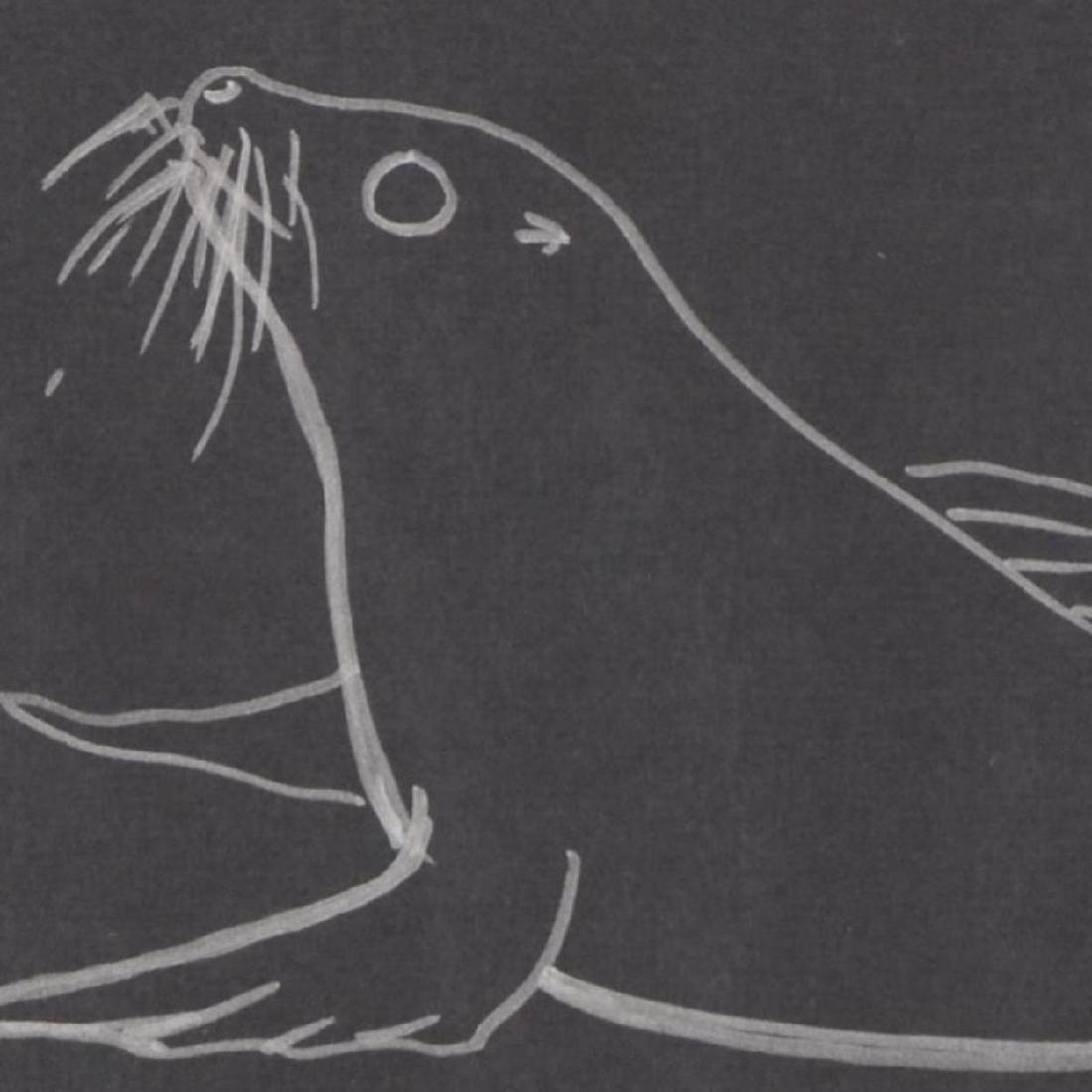 """Wyland - """"Seal"""" Framed Original Sketch, Hand Signed - 2"""