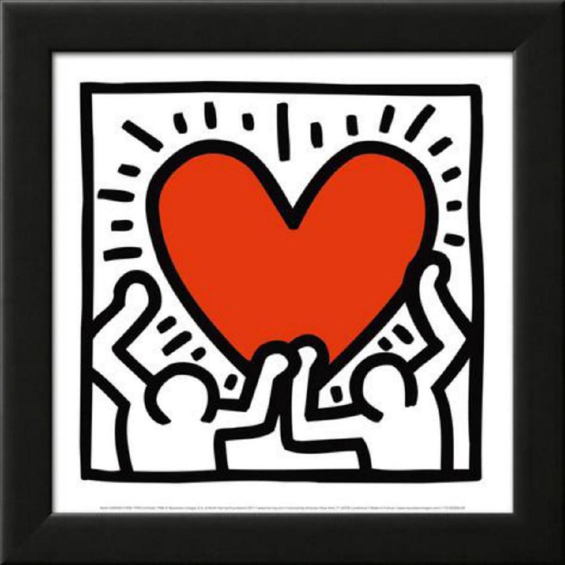 Keith Haring Untitled Pop Art Custom Framed
